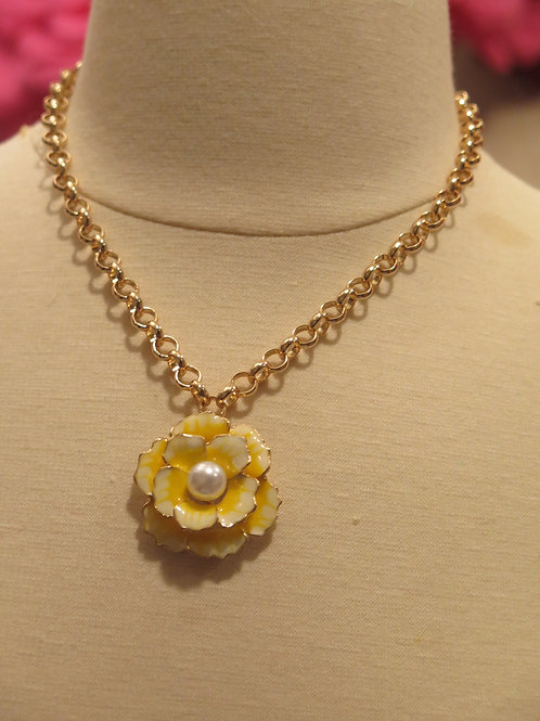 'Princess' Yellow Floral Necklace