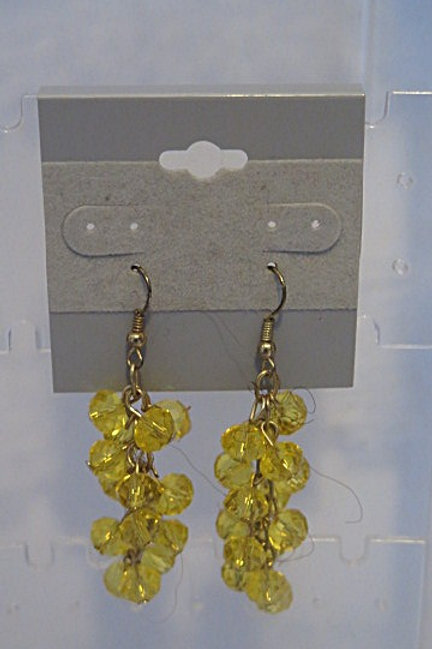 Yellow Swaroski cluster earrings