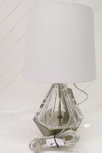 Set Gold Clear White Lamp.