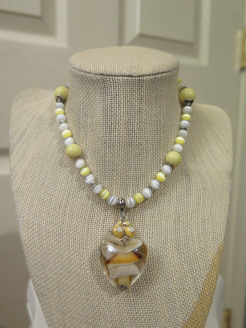 Yellow While necklace