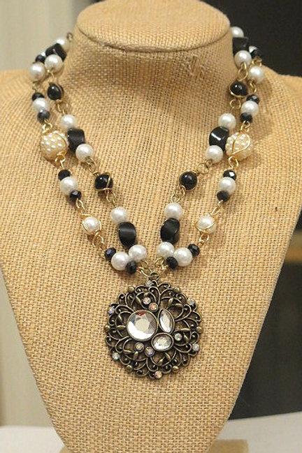 """'Parisien"""" Black & White necklace"""