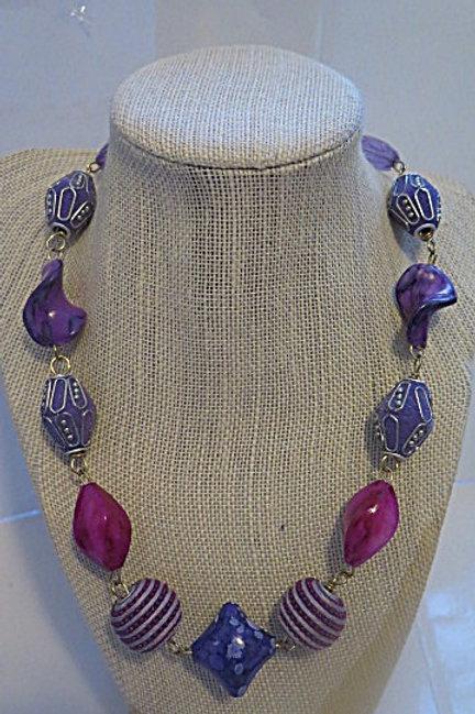 'Empress' Purple Long Necklace