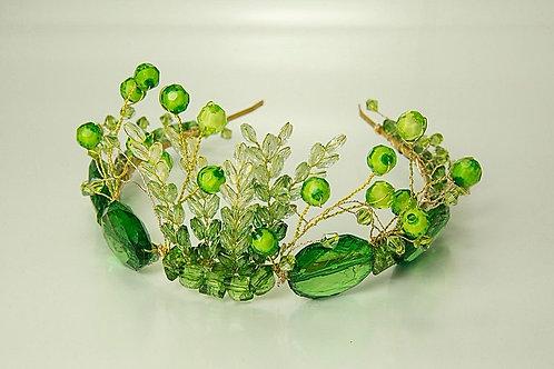 Green Bridal Crown
