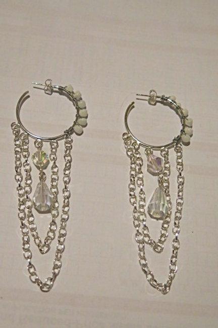 """White """"Ziva""""Earrings"""