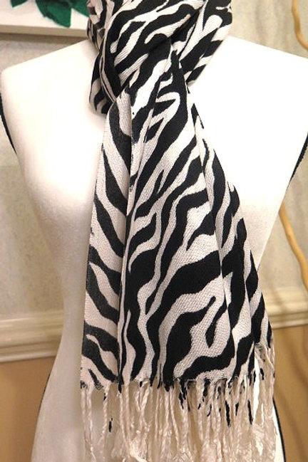 Black & White Pashmina Scarf