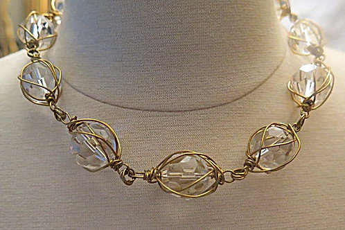 Bridal Wire wrap necklace