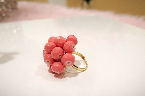 Peach Cocktail Ring