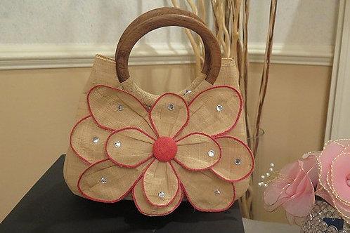 Floral Straw Bag