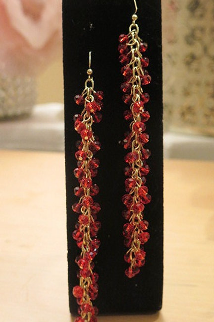 """Reina"" Red Earrings"