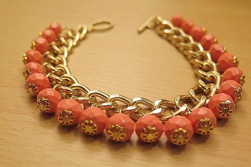 """Reina"" Orange Bracelet"