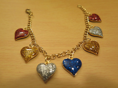 Heart Shape Charm Bracelet
