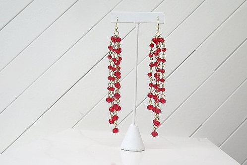 Red Saskia Earrings