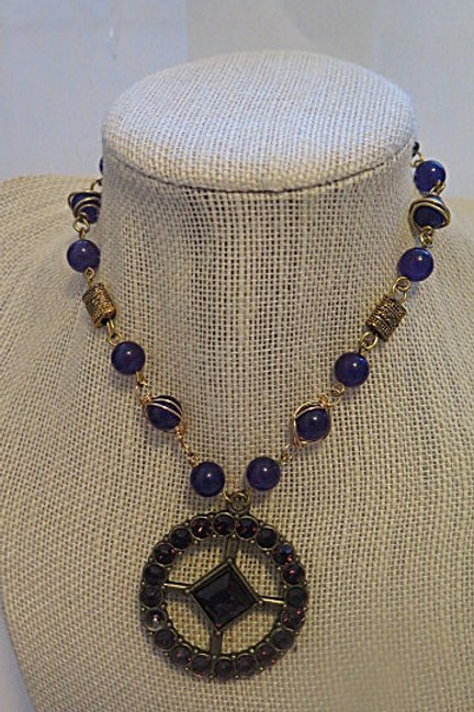 Purple Necklace with pendant