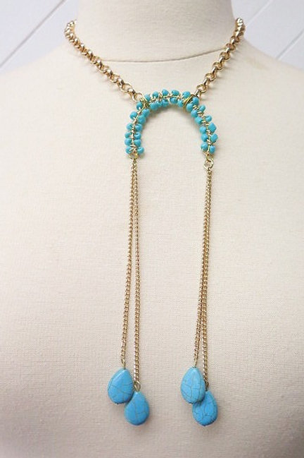 Blue Turquoise Native Stylish Necklace