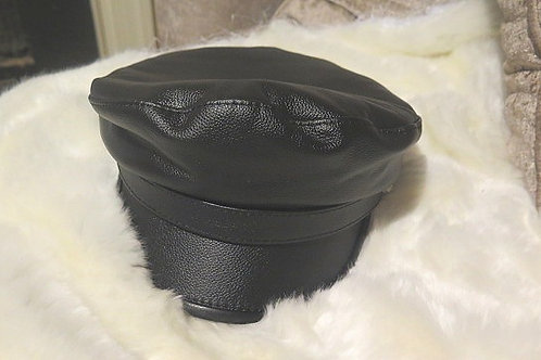 Leather Military Beret cap