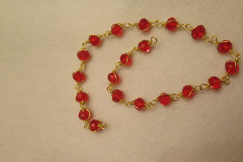 Loose Wire Wrap Red Beads