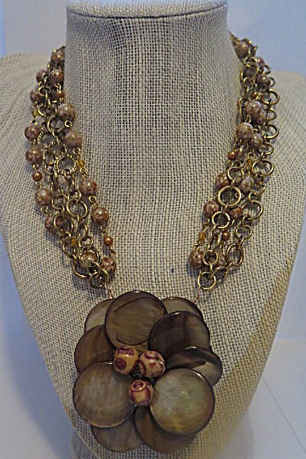 Brown Floral Necklace