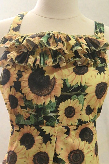 Yellow SunFlower Print Apron