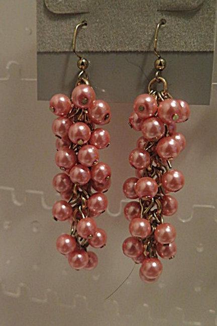 """Pink """"Reina"""" Earrings"""