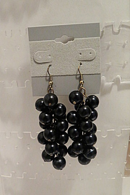Black Cluster Earrings