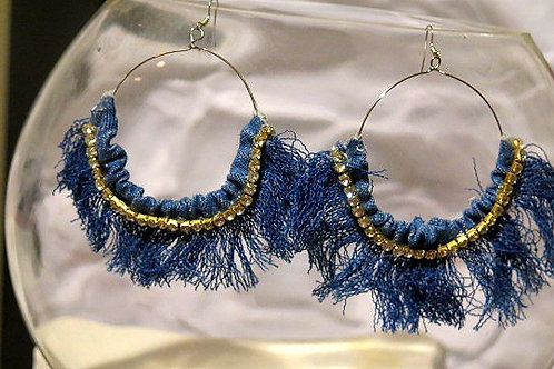 Crazy Girl Denim earring