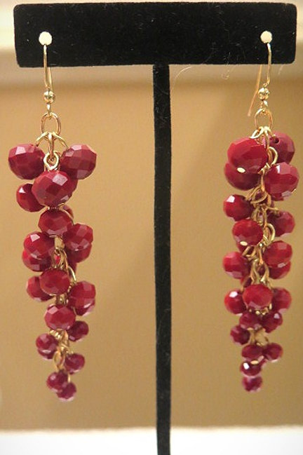 Reina Red Earrings