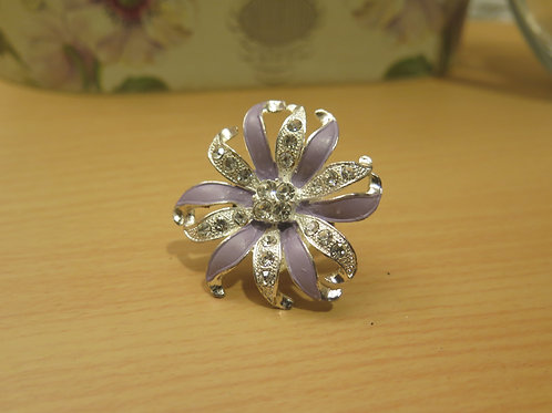 'Princess' Purple Cocktail Ring