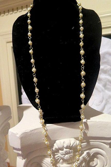 """""""Parisien"""" Long Pearl Necklace"""