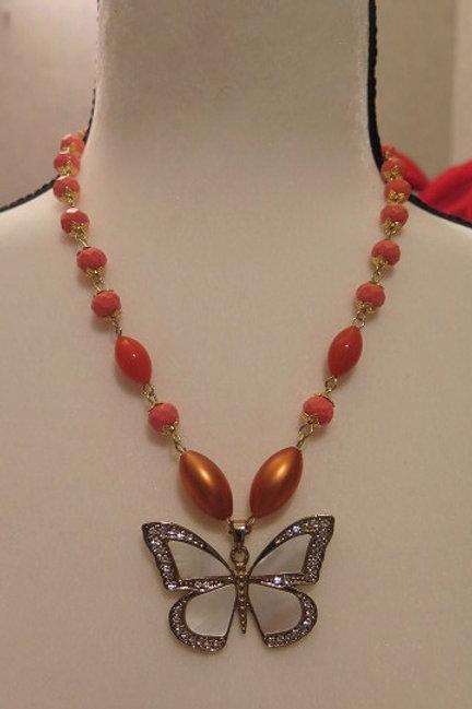 """""""Leona"""" Orange Necklace"""