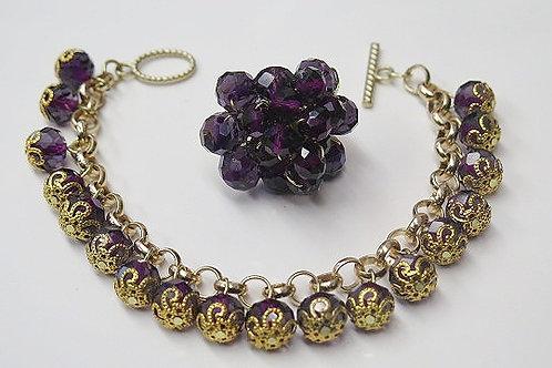 Dark Purple Jewelry Set