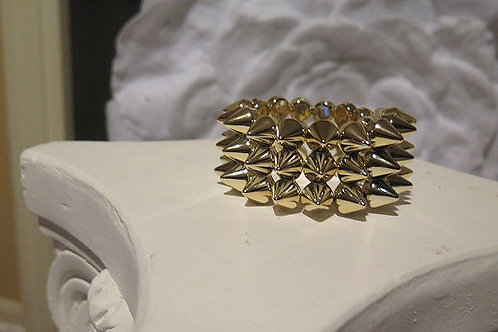 Spike Gold plated Bracelet