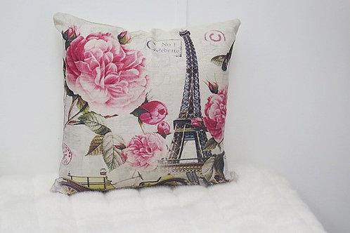 Paris Decorative Pillow Cover