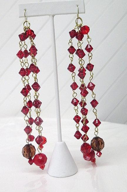 Red Long 'Saskia' Earring