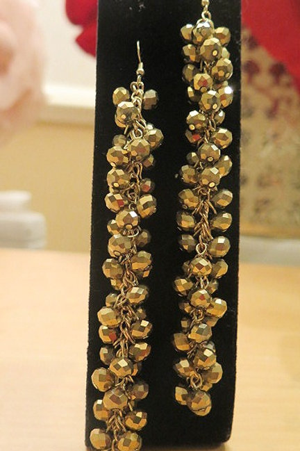 'Reina' Gold Tone Earrings
