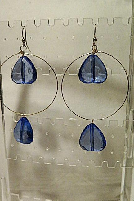 """Blue Heart """"Ziva"""" Earrings"""