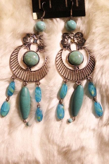 """Turquoise """"Zelda"""" Earrings"""
