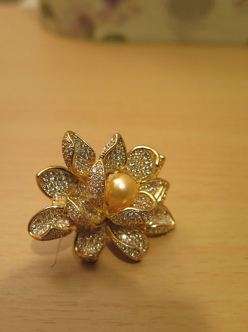 'Princess' Floral Rhinestone Ring