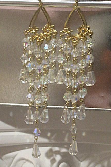 """White """"Zelda"""" earrings"""