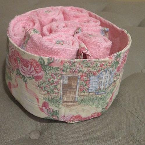 Pink Rose Storage Basket
