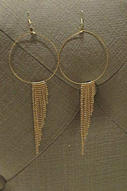 """'Ziva"""" Gold Fringes Earring"""