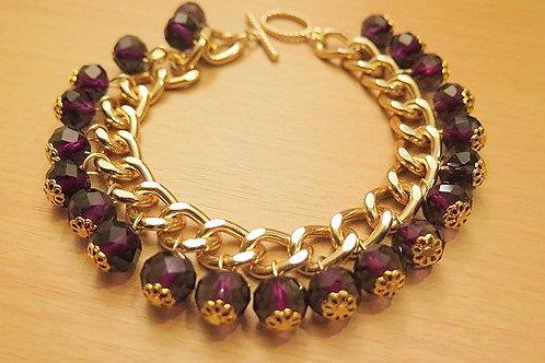 """Reina"" Dark Purple Bracelet"