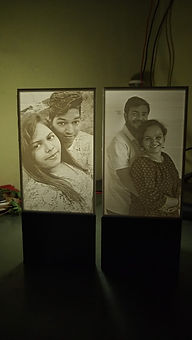 Personalized lithophane Lamp