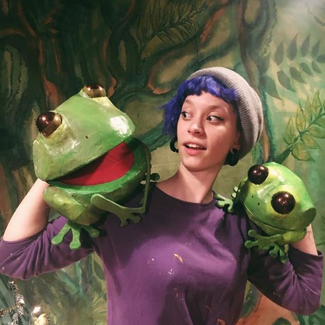 Cardboard Frogs