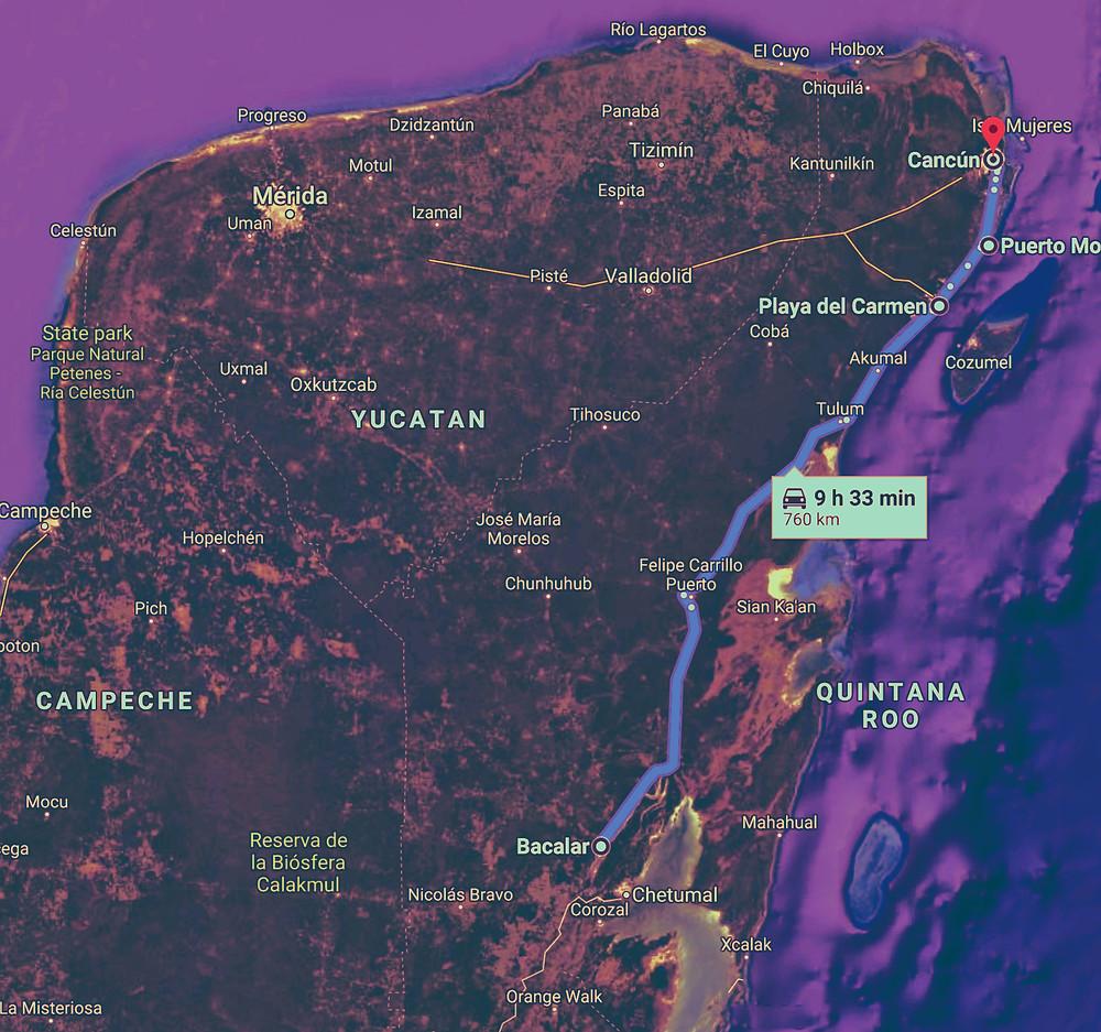 Budget Travel Road Trip Riviera Maya Yucatan Peninsula Quintana Roo Mexico