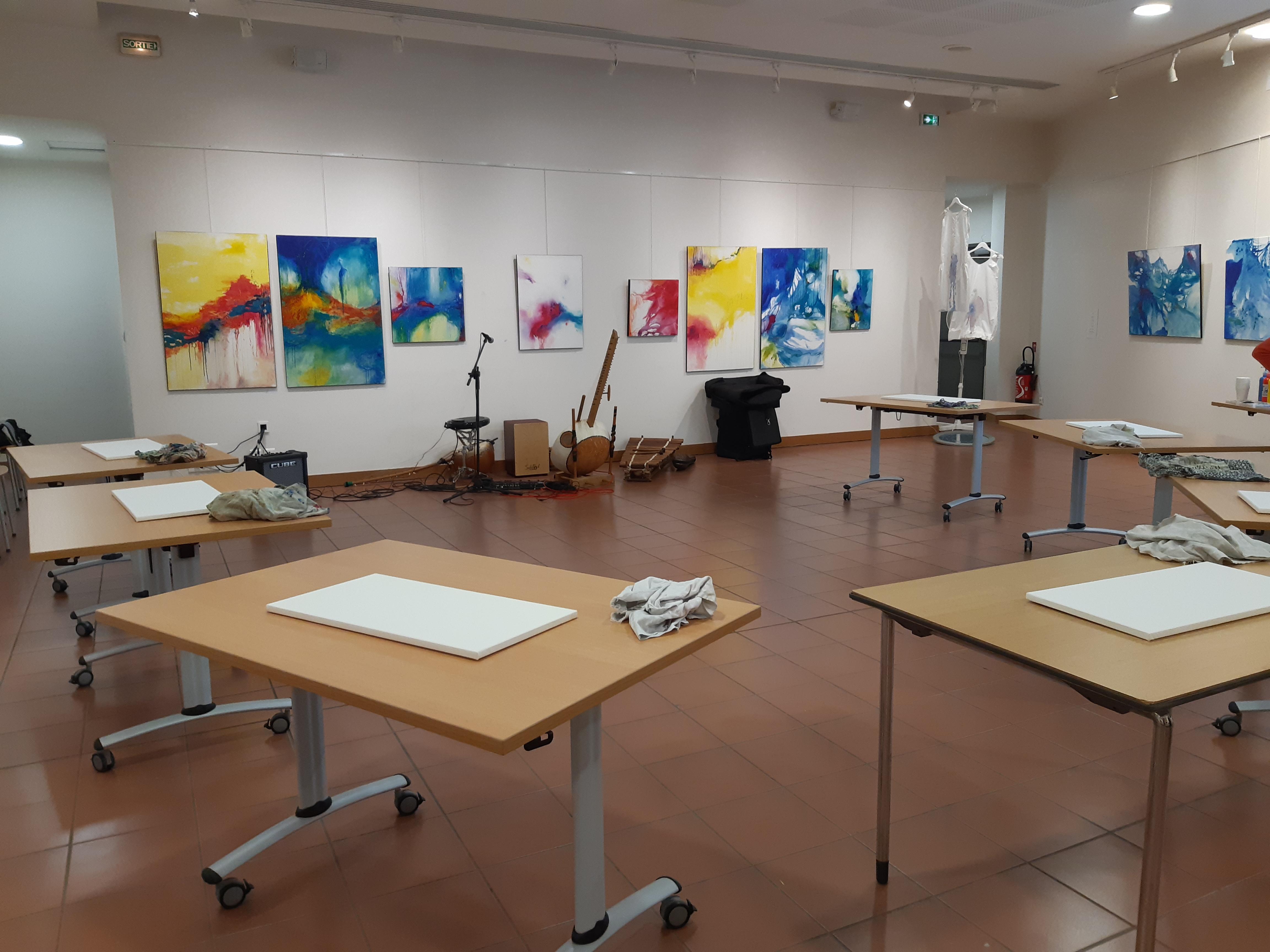 Atelier de peinture sensorielle en musique live