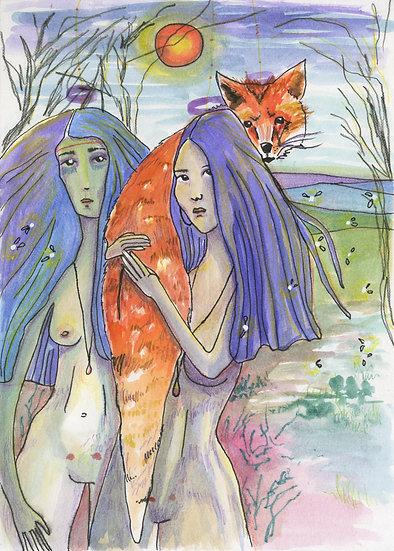 Le renard et les femmes sauvages