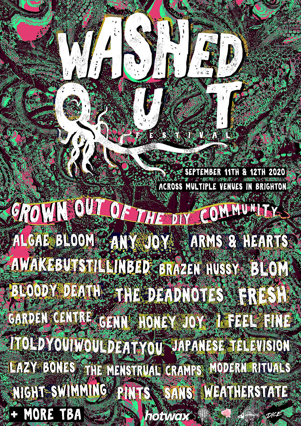 Flyer Design for Washed Out Festival based in Brighton