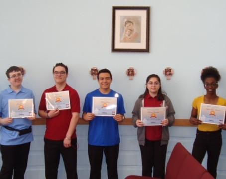 Focus on Faith Award Recipients for April