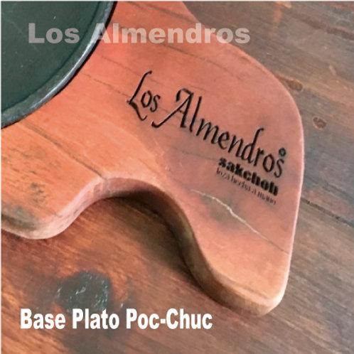 Base Madera/Plato Hierro 22cm 1 Pieza