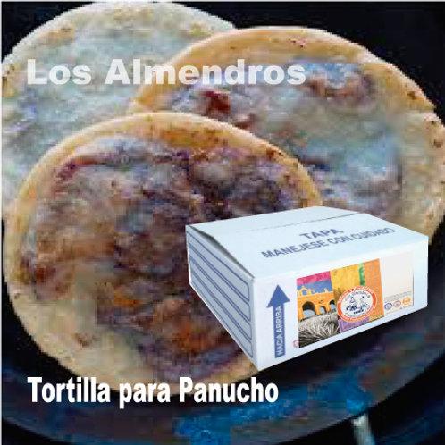 Tortilla Panucho 25 Piezas